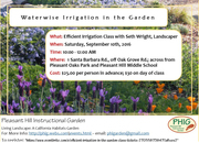 Efficient Irrigation Class at PHIG by Seth Wright, Landscaper