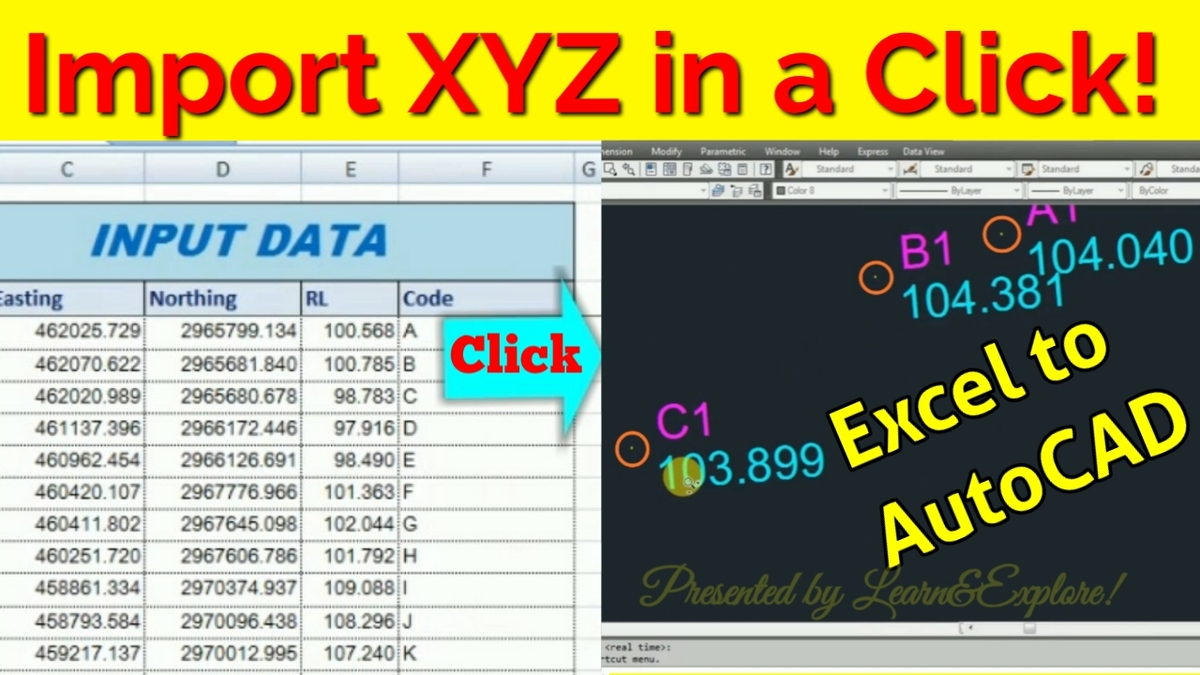 Import xyz coordinate in a click