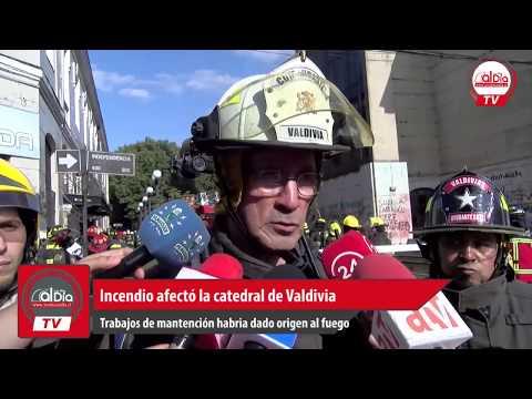 INCENDIO AFECTO A CATEDRAL DE LA CIUDAD DE VALDIVIA - REGIÓN DE LOS RÍOS EN CHILE