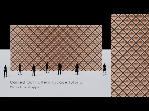 [Tutorial] Rhino_Grasshopper Carved Out Wall Pattern