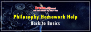 Philosophy Homework Help Back to Basics
