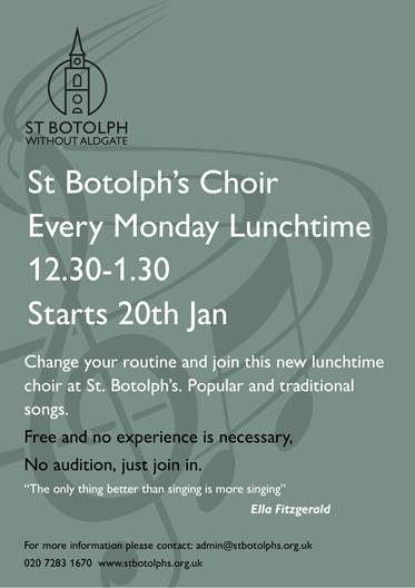 community lunchtime choir pop in and join us