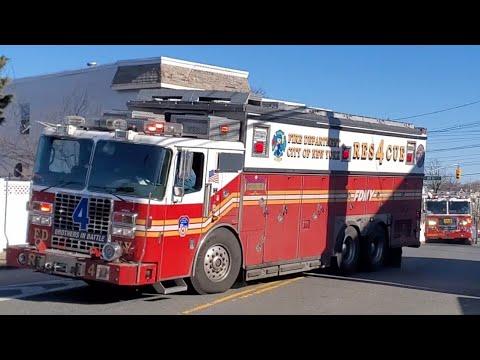 FDNY Rescue 4, Squad 288 Responding