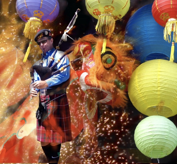 Piping in the Lunar New Year