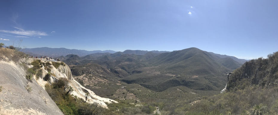 Panorama de Hierve el Agua