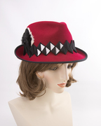 Red, White and Black Fedora