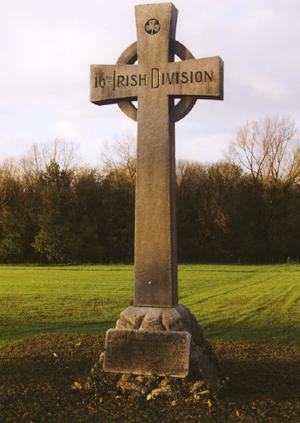 The 16th Irish Division Memorial Cross at Wyschaete.