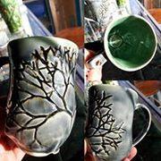 hand built seaweed cup