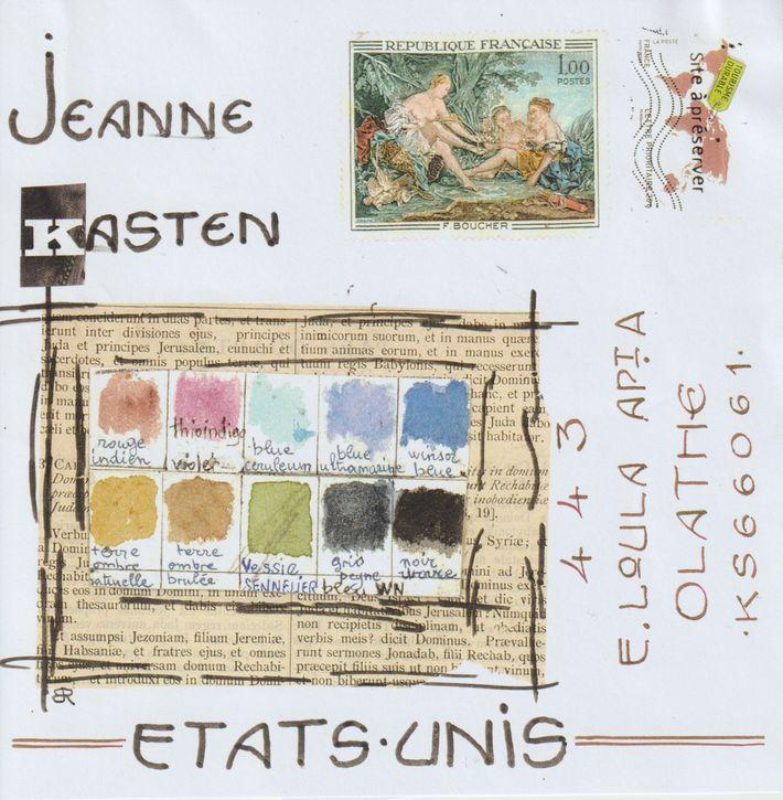 sent to Jeanne Kasten