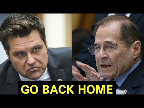 """STOP THIS NONSENSE"" MATT GAETZ BRILLIANTLY DISAMANTLES JERRY NADLER"