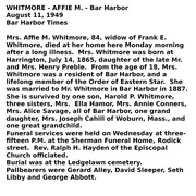 affie whitmore obituary