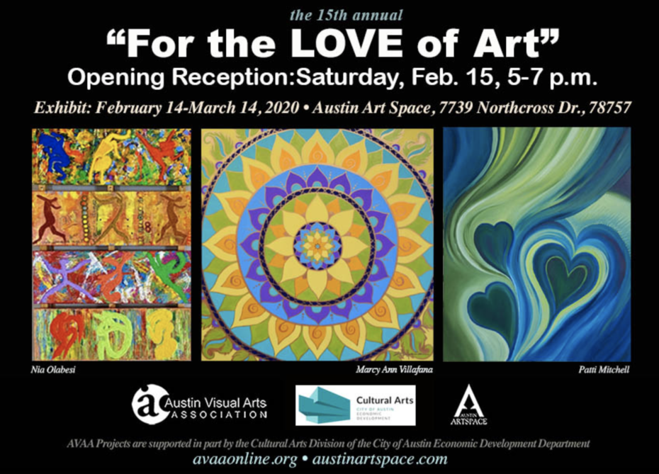 Austin Visual Arts Association, February 14 - March 14, 2020