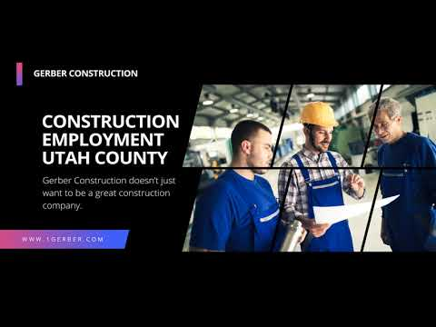 Employment for Construction in Utah County
