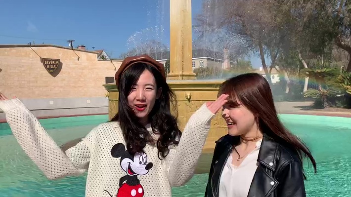 Mengwei and Suzuka's video in Beverly Hills