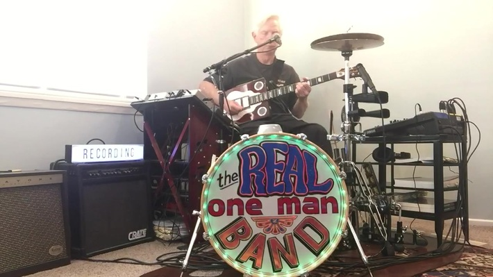 The Real One Man Band jammin' at home
