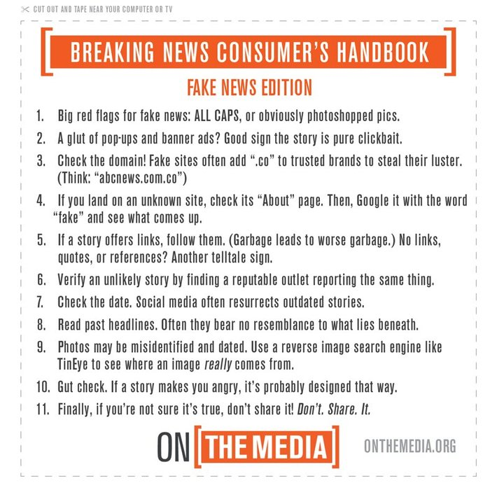 fake news advice