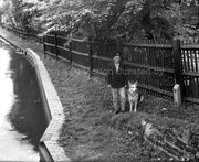 New River Company Walksman near Bridge at Seymour Road, 1959
