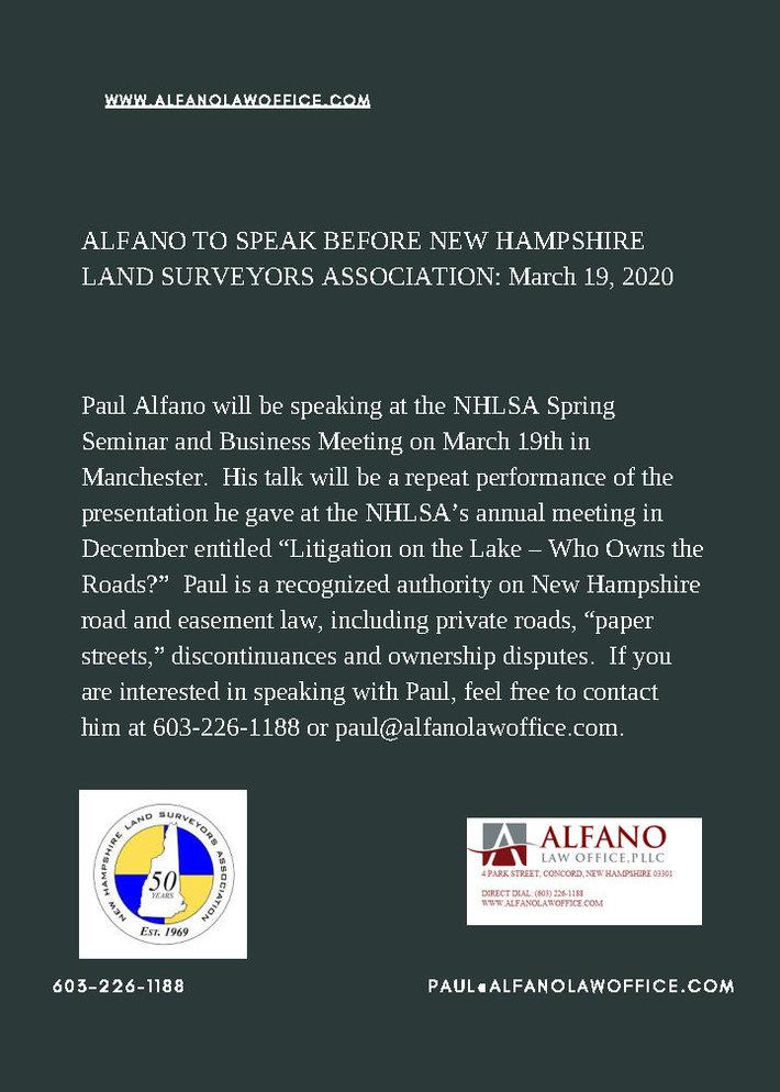 New Hampshire Land Surveyors Association