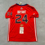 Likely not Genuine: Kobe Bryant Signed Autographed All Star Game Los Angeles Lakers Jersey - Size L $1,750