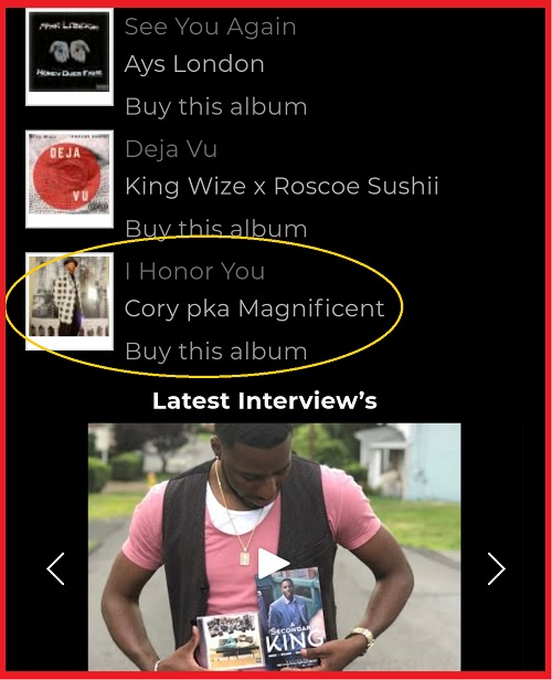 """In Heavy Rotation!! Trend City Radio """"I Honor You"""" By Corey pka Magnificent"""