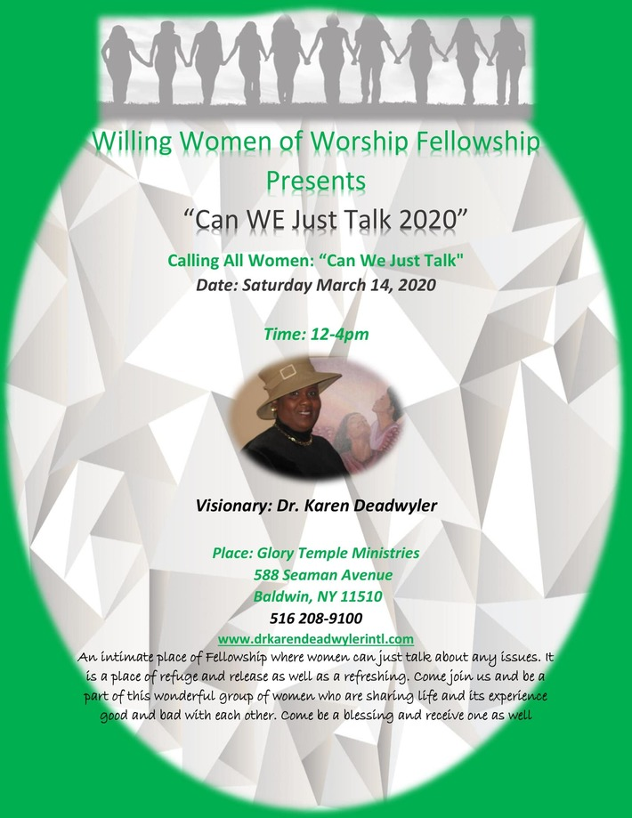 Willing Women Presents Can We Just Talk New Flyer  2020 March