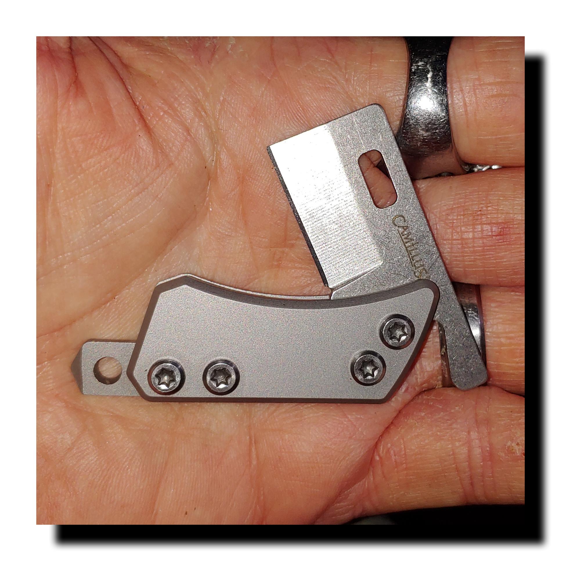 Mini keychain friction folder