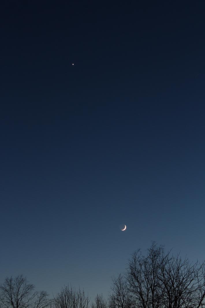 Venus och Månen