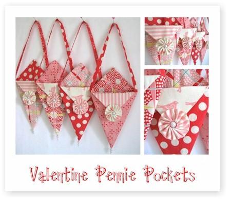 Valentine Pennie Pockets Tutorial