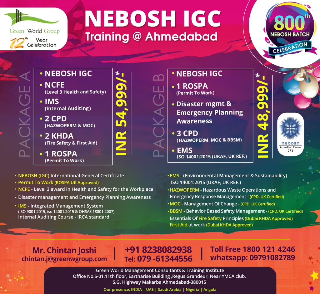 Nebosh Safety Institute In Ahmedabad Online Safety Community