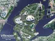 Vrender Company site plan rendering