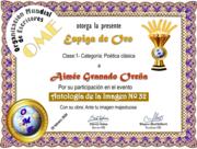 CERTIFICADOS ANTOLOGÍA IMAGEN 34 -OME