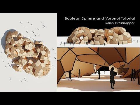 [Tutorial] Boolean Sphere and Voronoi in Rhino_Grasshopper