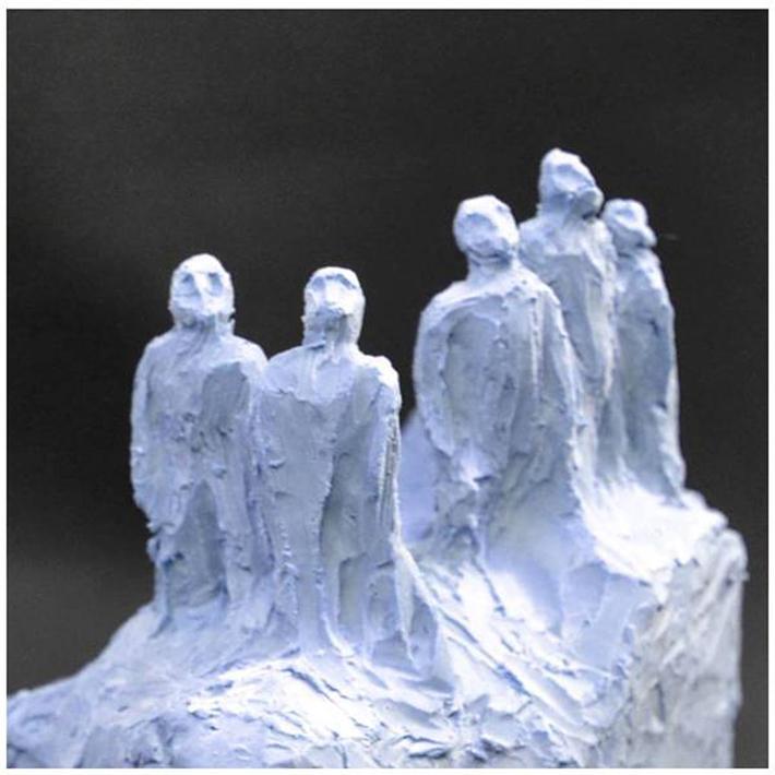 """""""Us"""", cast resin sculpture, miniature"""
