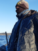 Cold on the water. -.16 windchill was -24
