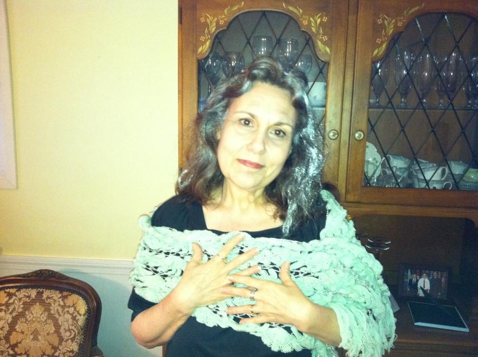older woman, shawl