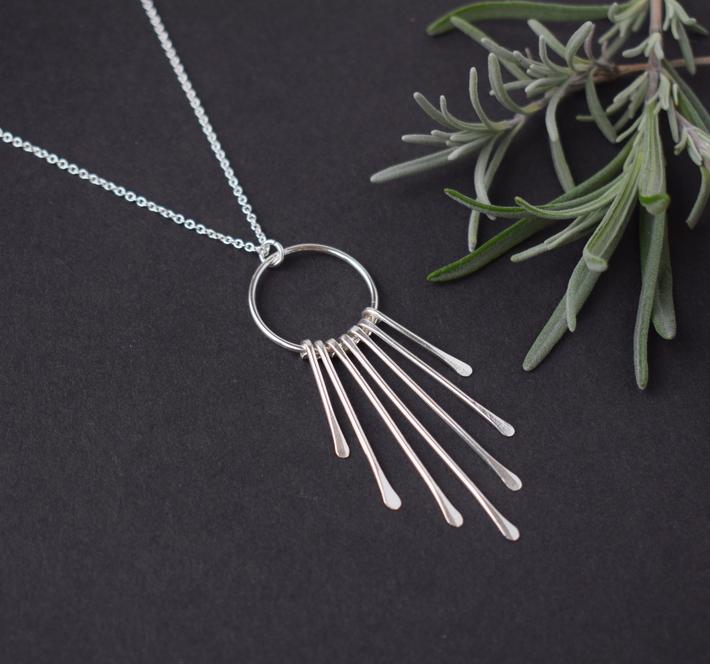 Silver Tassel Pendant