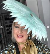 Feather wild brim hat