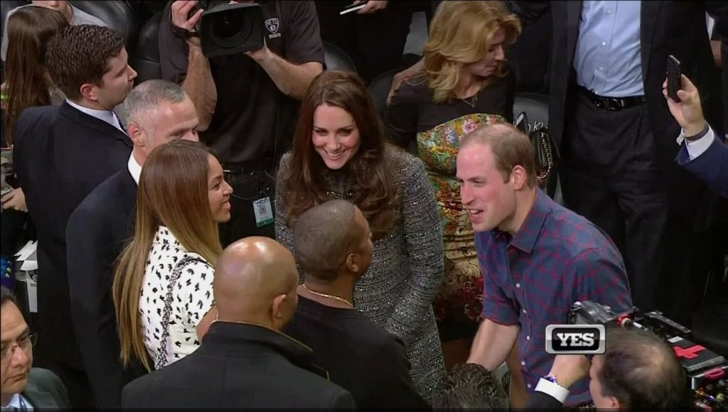 Royal Couple Prince William And Kate Attend NBA Game - Meet Jay Z & Beyonce (Video + Pics)