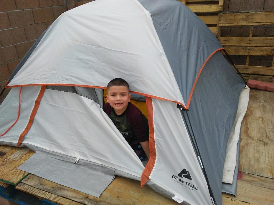 Grandson and his Tent
