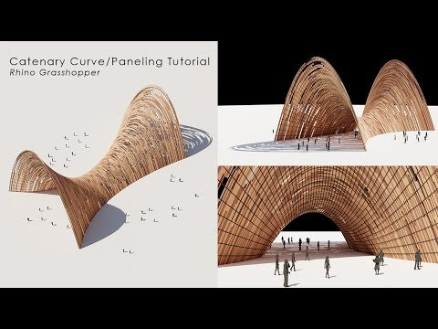 Catenary Curves Paneling Rhino Grasshopper Tutorial