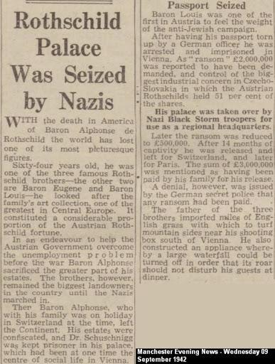 Rothschild Palace Seized by Nazis