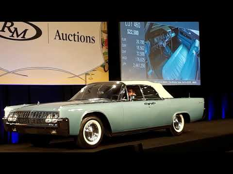 1962 Lincoln Continental Convertible Sells At the 2019 RM Sotheby's Hershey
