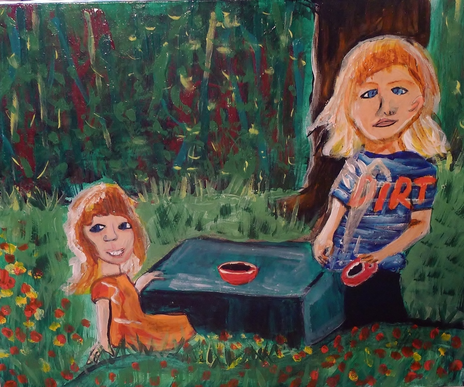 Max and Bella painting 1