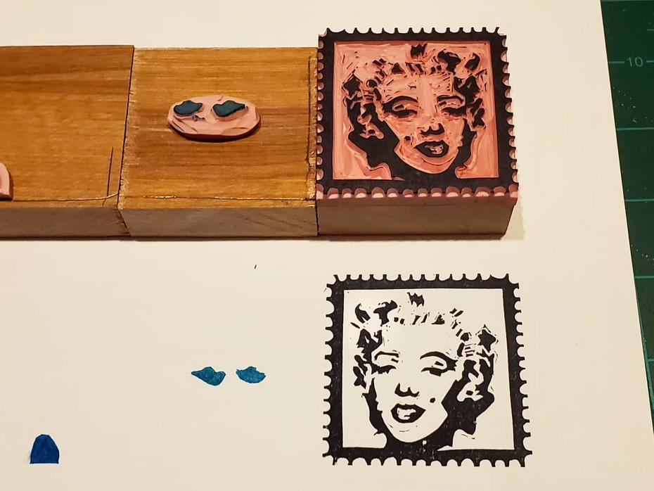 Carved a new Artistamp set! Make your own Warhol!