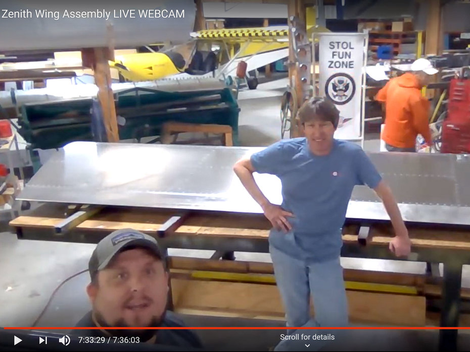 Wing Assembly Live YouTube Stream