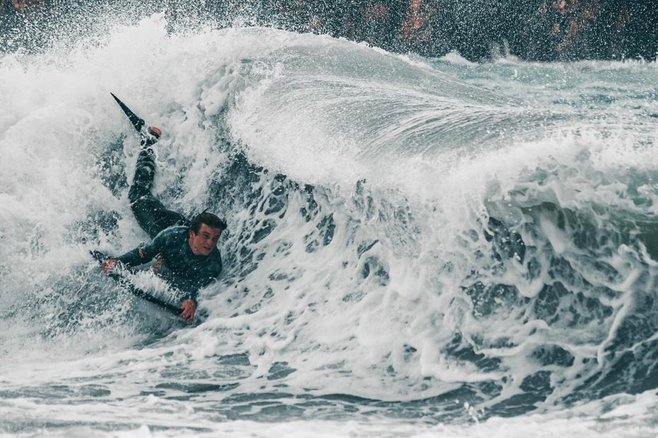 Jan on a wave