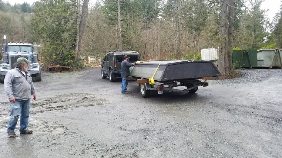 Boat flipped on trailer
