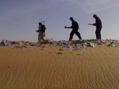 Seismic surveyor team n°01 in field (Taoudenni seismic project_MALI)