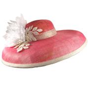 Wide Pink Hat