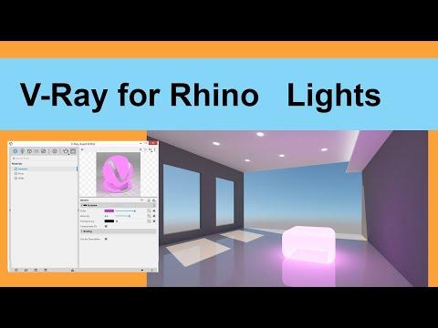 V Ray for Rhino Lights